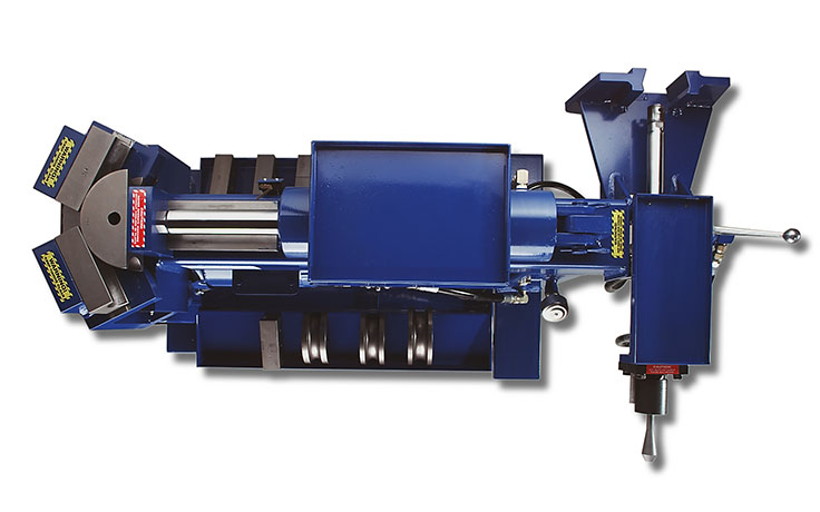 Top-view of BendPak's 1302BA full-automatic pipe bender