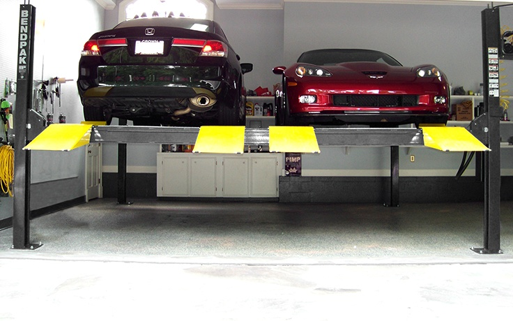HD-9SW Double-Wide Four-Post Car Lift