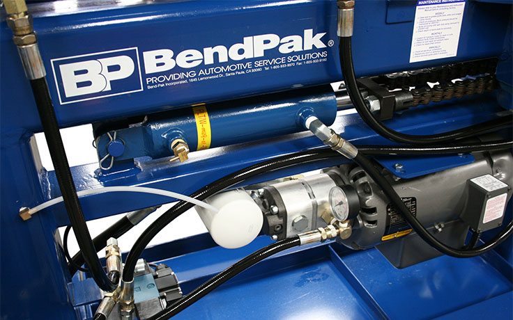 BendPak 1302BAS pipe bender motor and cylinder