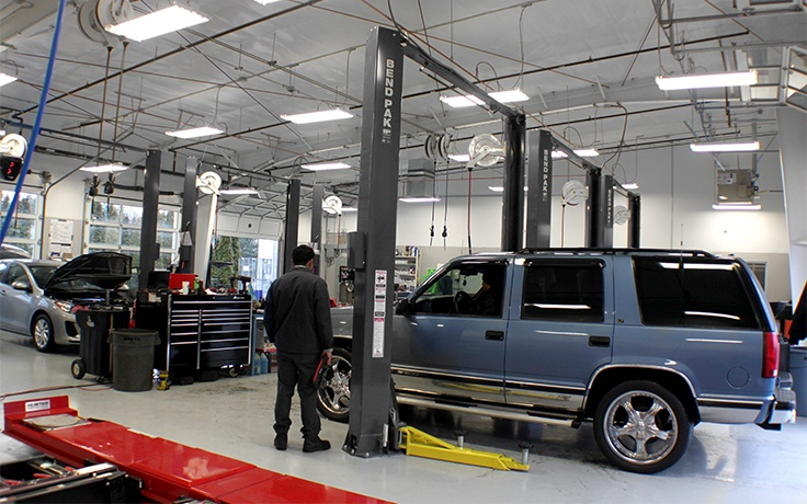 Automotive Repair Shop with BendPak Lifts