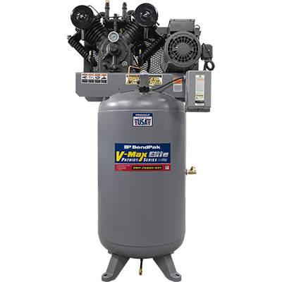 Upright Air Compressor 80 Gallon Tank VMP-7580V-601 by BendPak and Made in USA