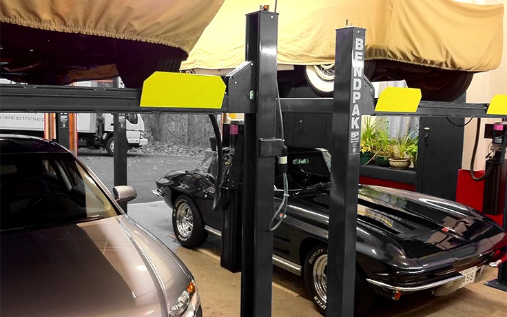 BendPak HD-9 Four-Post Lift for Car Storage