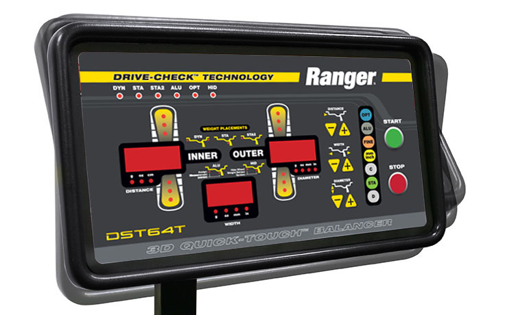 Wheel balancer tilting control panel DST-64T Ranger