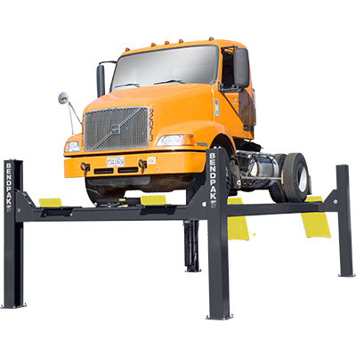 HDS-40X Four-Post Truck Lift with Extended Runways by BendPak