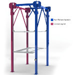PL-14000 Triple Stacker Parking Lift Blue Prints  auto stacker parking car lift