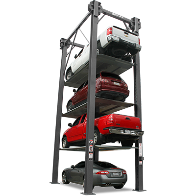 Four-Level Parking Lift - Commercial Parking Lift - BendPak