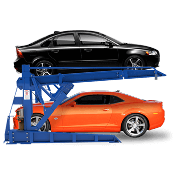 6,000-lb. Drive-On Tilt-Back Parking Auto Stacking System