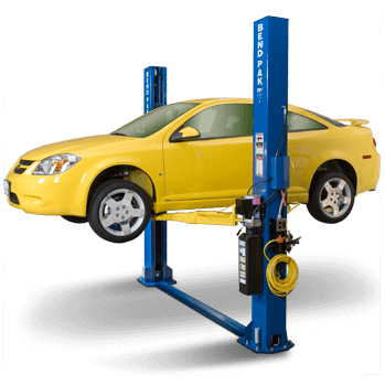 BendPak XPR-9S short-style floor plate two post lift