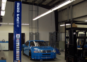 Two-Post Car Lift Installation For Petty Enterprises 2
