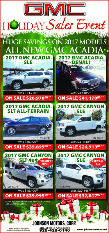 car ad for holiday sale