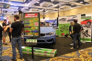 QuickJack portable car lift at SEMA