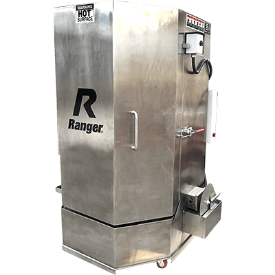 RS-500DS Stainless Steel Spray Wash Cabinet / Dual-Heaters / Low-Water Shutoff