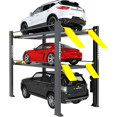 HD-973PX 9,000 and 7,000 Lb. Capacity / Tri-Level Parking Lift / Extended / High Lift / SPECIAL ORDER / PATENT PENDING