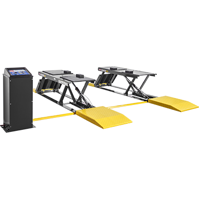 P-9000LT 9,000-lb. Capacity / Low-Rise Lift / Open-Center / Pit-Style