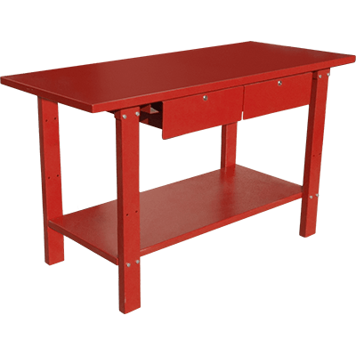 RWB-2D Heavy-Duty Work Bench / 2-Drawer, 1-Shelf