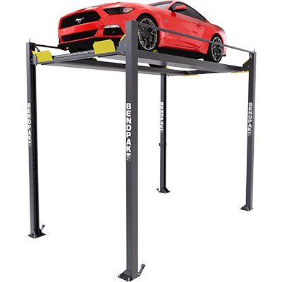 HD-7PXW 7,000-lb. Capacity / Super-Tall Rise / Four-Post Lift / Vehicle Display Platform