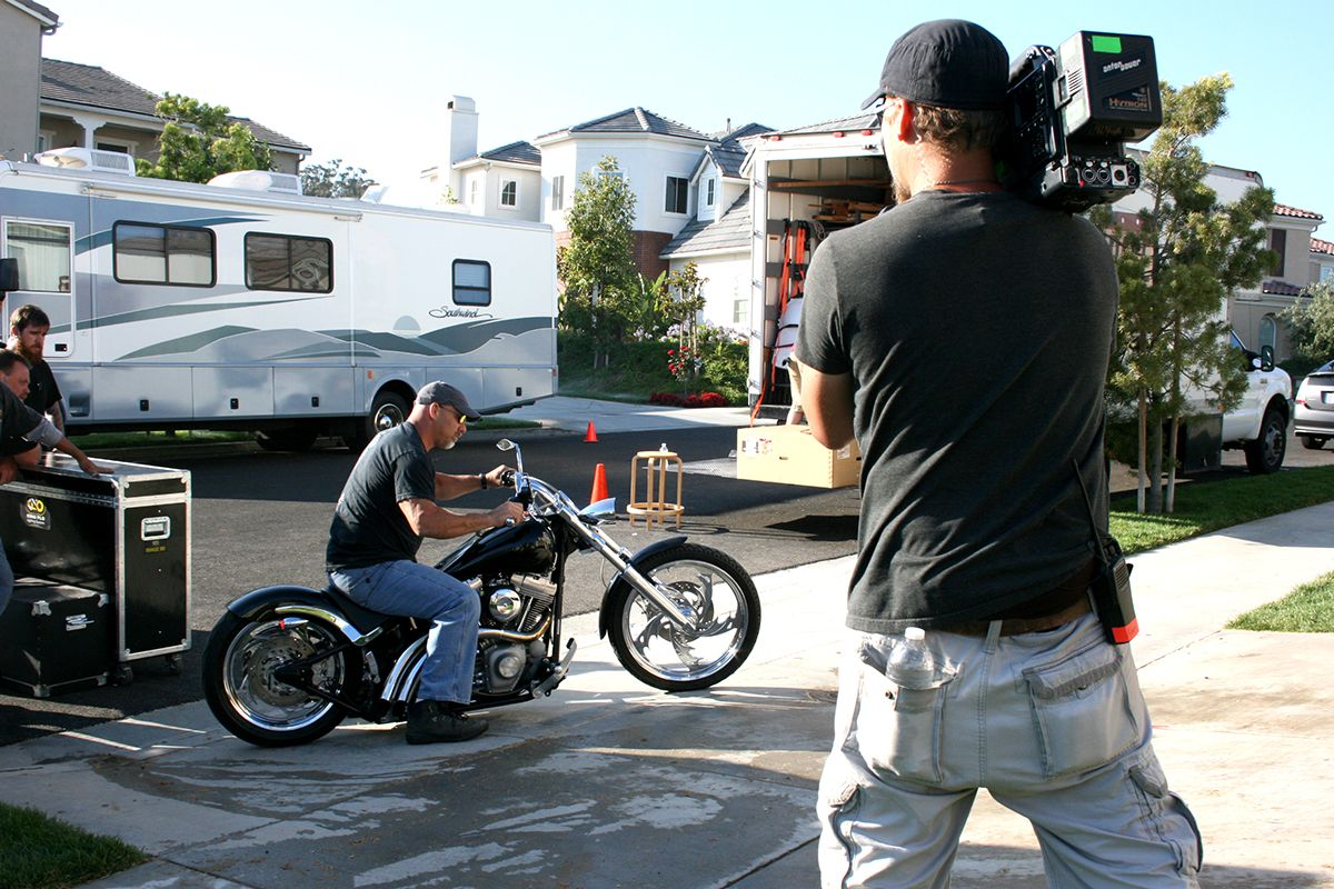 Bill Goldberg Riding a Motorcycle on Garage Maha