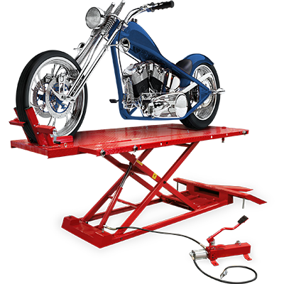 RML-1500XL Motorcycle Lift Platform with Front Wheel Vise / Deluxe Extended