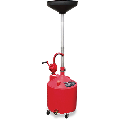 RD-18G 18-Gallon Upright Portable Oil Drain with Pump