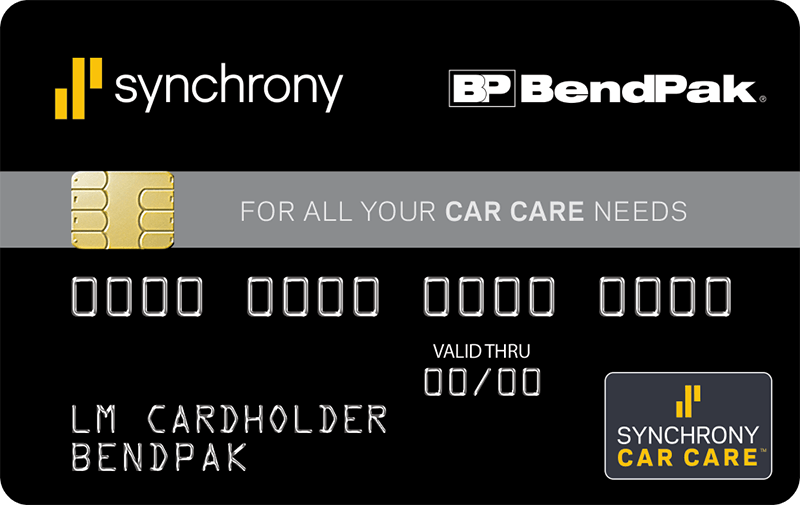 BendPak Financing Credit Card
