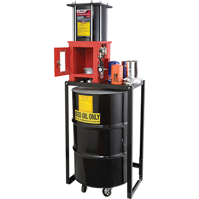 RP-20FC Oil Filter Crusher with Stand / 10-Ton Capacity