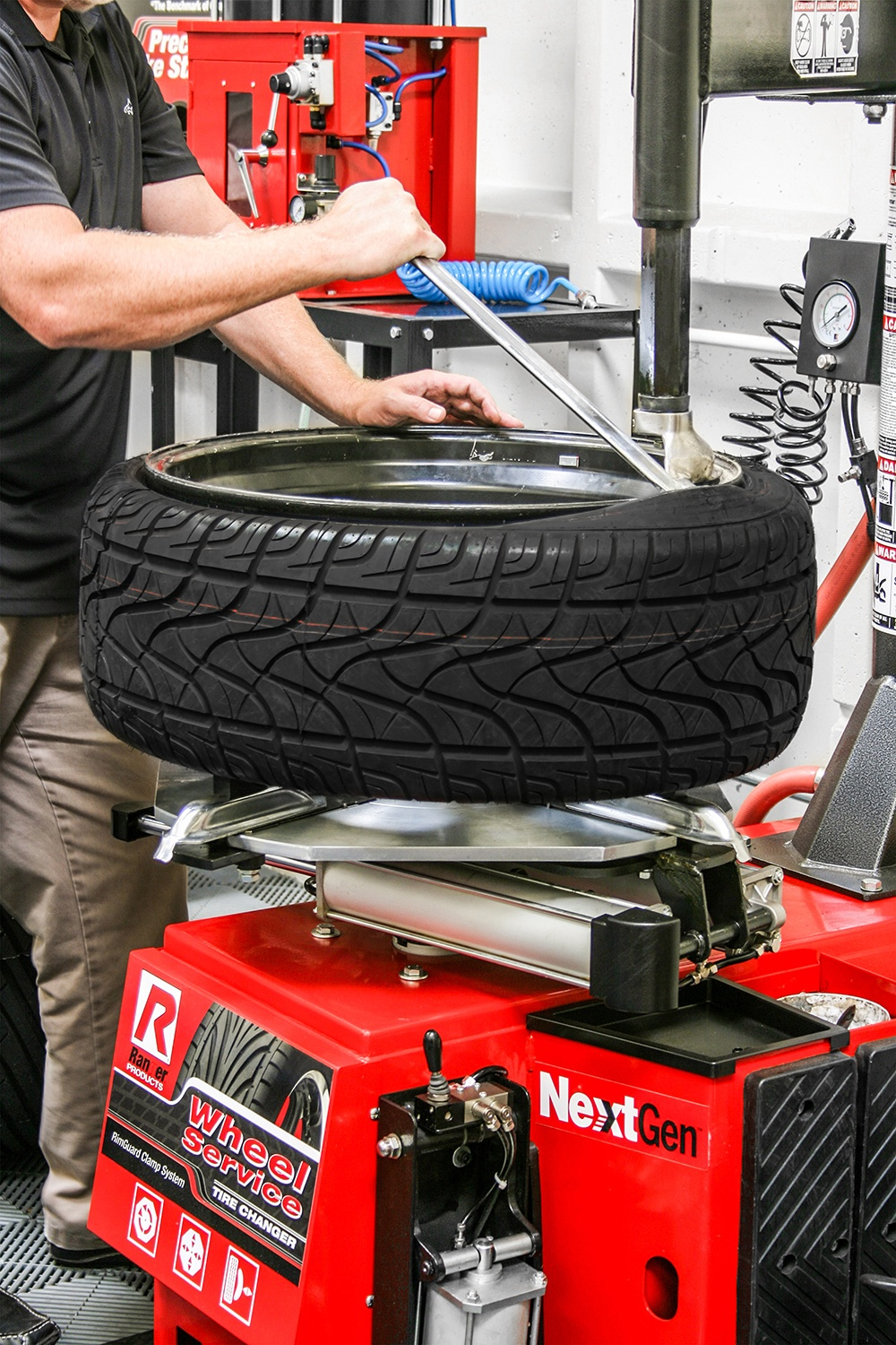 Changing Tires with Ranger Tire Changer Equipment