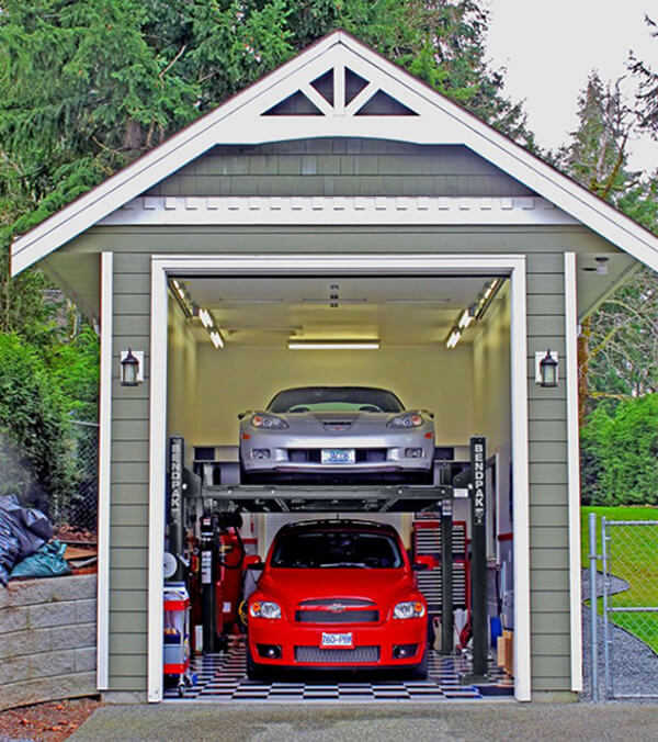 Four-Post Lift Home Garage Storage