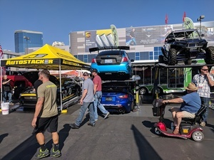 SEMA show outdoor booth
